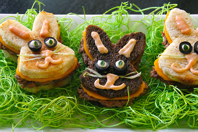 Easter bunny burgers
