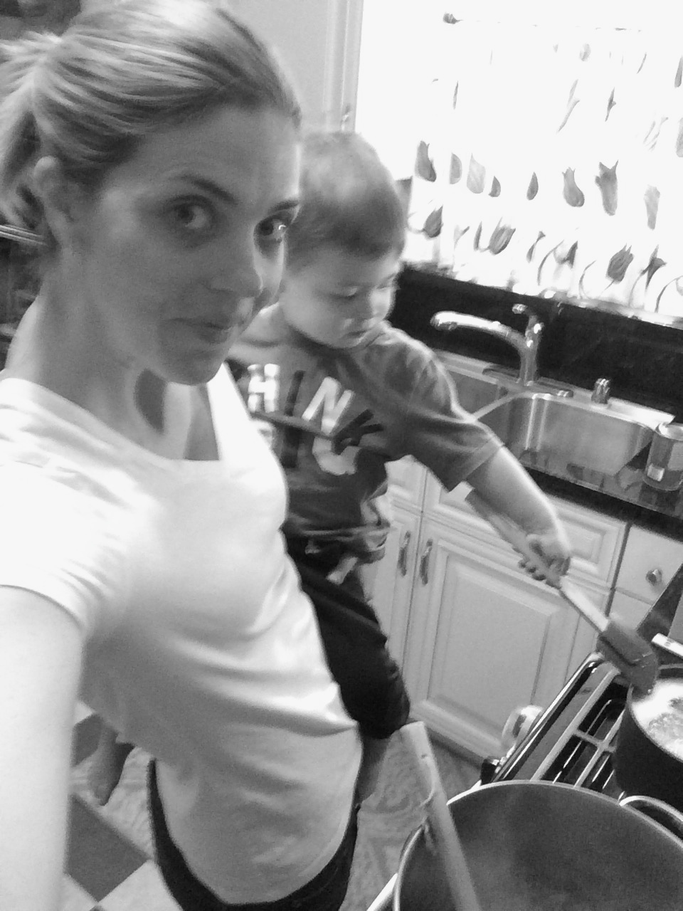 Cooking with a child on my hip