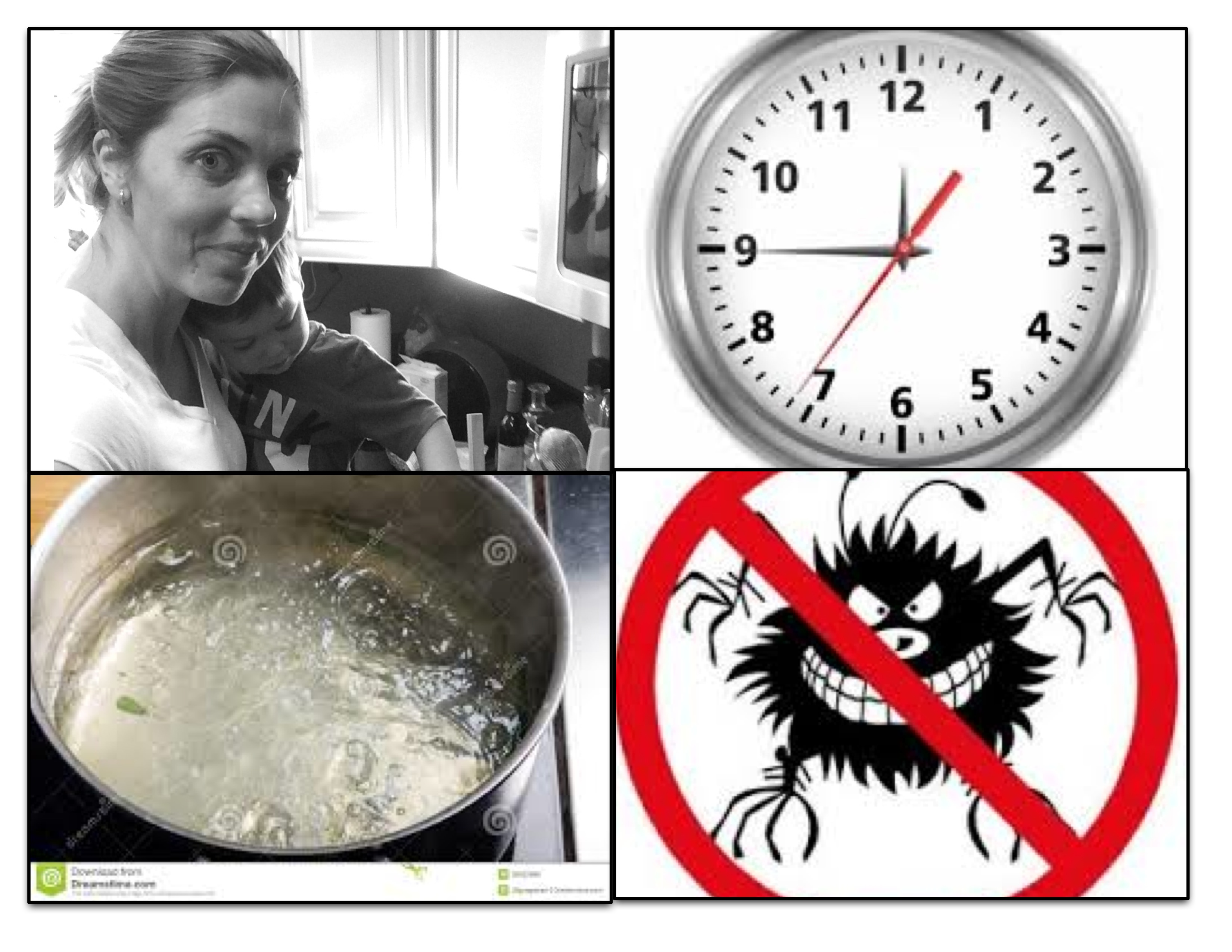 Cooking while trying to kill lice