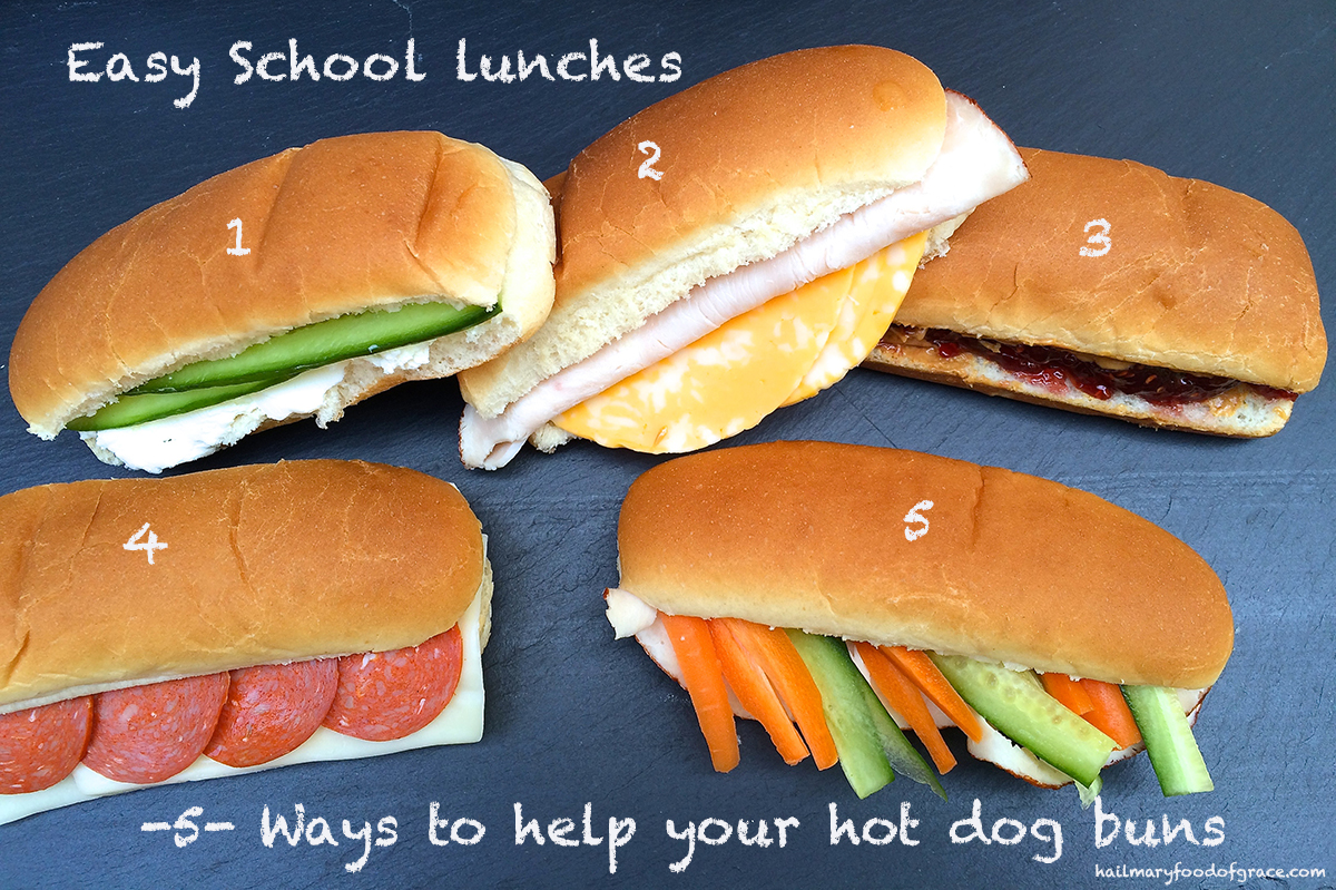 School sandwiches for lunch boxes
