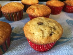 (c) HMFG copyright chocolate chip banana muffin, photo by Mary Moran